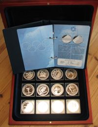 Salt lake city silver coin collection 2002 ( Sis 12 kolikkoa )