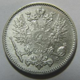 50 Penniä 1892 II ( 1+/1+-01 ) slightly cleaned