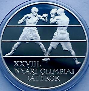 Unkari 5000 Forint 2004 Olympic Boxers KM-774 ( PROOF )