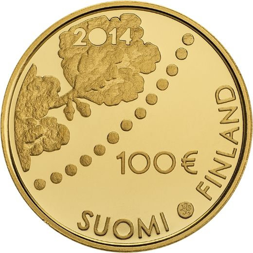 FINLAND 100 Euro 2014  ( PROOF 00 )  The first mark and numismatics