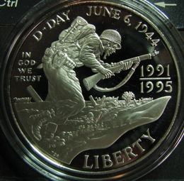 US 1 Dollar 1995W KM-244 WORLD WAR 2 50th ANNIVERSARY ( PROOF )