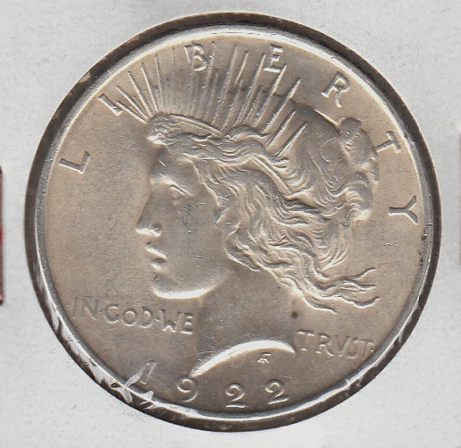 USA 1 Dollar 1922 KM-110 ( 1+-01  ) Peace