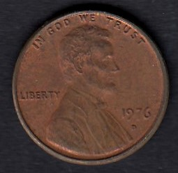 USA 1 Cent 1976 D KM-201 ( 01 )