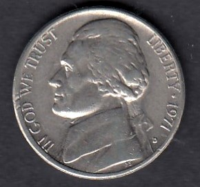 USA 5 Cents 1971 D KM-A192 ( 01 )