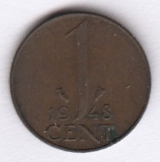 Hollanti 1 Cent 1948 KM-175 ( 1 )