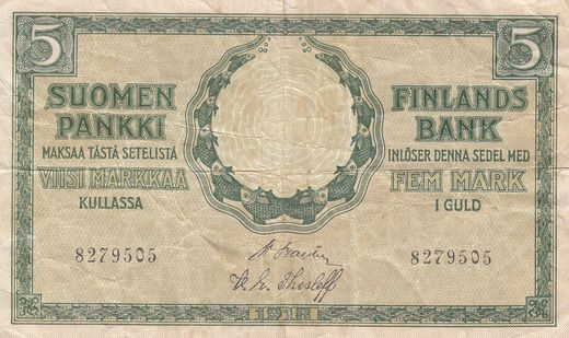 5 Markkaa 1918 8279505 ( 1 ) BAS - THE