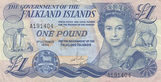 Falklands Islands 1 pound 1984 P-13 ( 1-1+ )