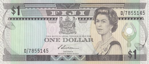 Fiji 1 Dollar ND (1987)  P-86 ( 01 )