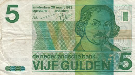 Hollanti 5 Gulden 1973 P-95 ( 1?-1 )