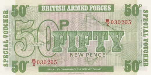 Iso-Britannia 50 Pence 1972 P-M36a ( 01-0 ) British armed forces