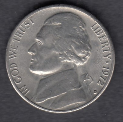 USA 5 Cents 1972 D KM-A192 ( 1+-01 )
