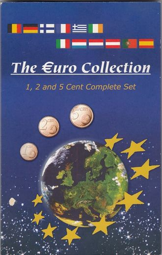 The Euro Collection 1, 2 and 5 cent complete set