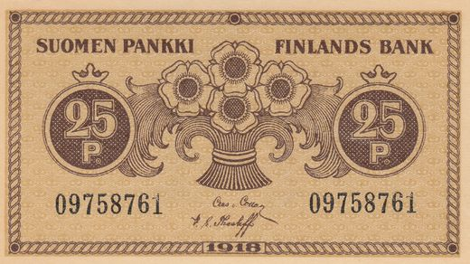 25 Penniä 1918 09758761 ( 01-0 ) COL - The
