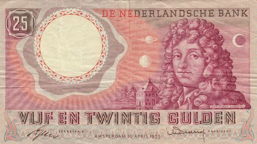 Hollanti 25 Gulden 1955 P-87 ( 1 )