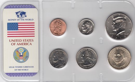USA 1,5,10,25,50 cents  2004-10 ja 1 dollar ( 01-0 )