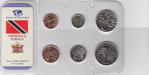 Trinidad & Tobago 1,5,10,25,50 cents ja 1 dollar 1995-2007 ( 01-0 )