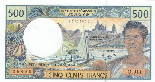 French Pacific Territories 500 Francs 2004  P-1e ( 01-0 )