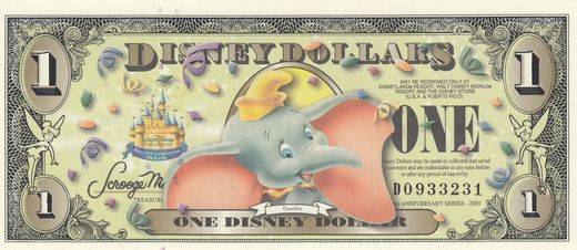 Disney 1 Dollar series 2005 Dumbo ( 01-0 )