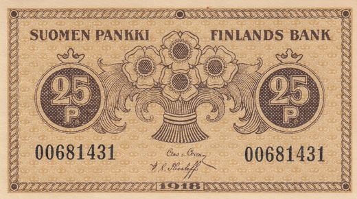 25 Penniä 1918 00681431 ( 01-0 ) COL - The