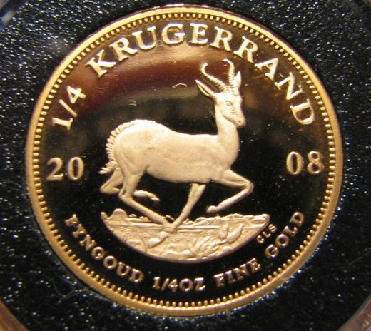 Etelä-Afrikka Gold 1/4  Krugerrand  2008  ( PROOF ) Gold 8,483gr 917/1000