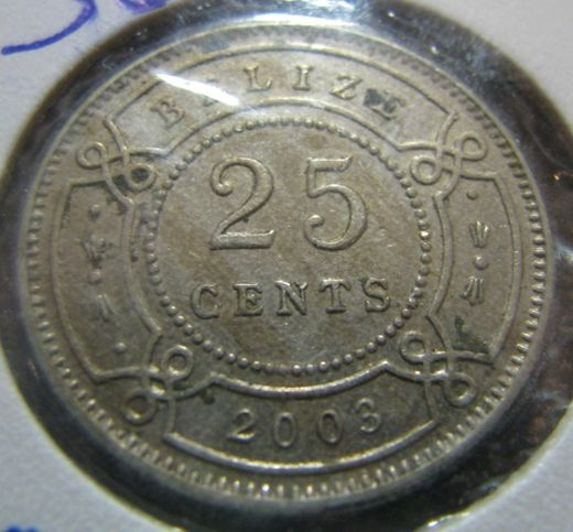 Belize 25 Cents 2003 KM-36 ( 1+-01 )