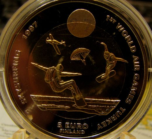 5 Euro 1997 FAI World Air Games Skysurfing ( BU ) Kapselissa
