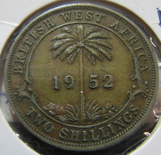 British West Africa 2 Shilling 1952H KM-29 ( 1+ )