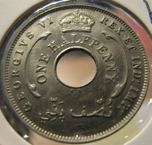 British West Africa 1/2 Penny 1937 KM-18 ( 01-0 )